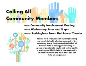 Community meeting Flyer june 22